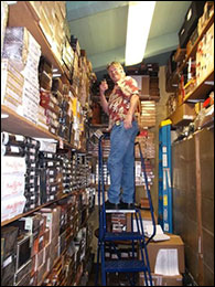 Parrish In the Stockroom at Telford's Pipe & Cigar.